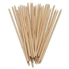 Orange Wood Sticks Long handle (Pack of 10) €1.80
