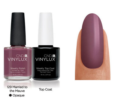 CND Vinylux Married to the Mauve #129 €12