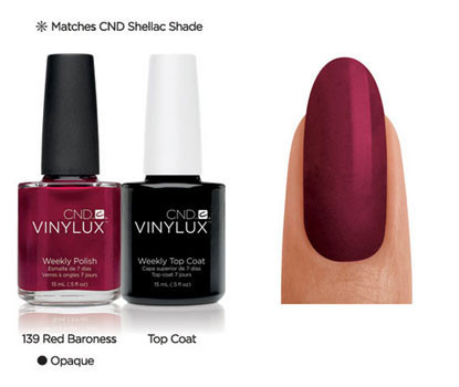 CND Vinylux Red Baroness #139 €12