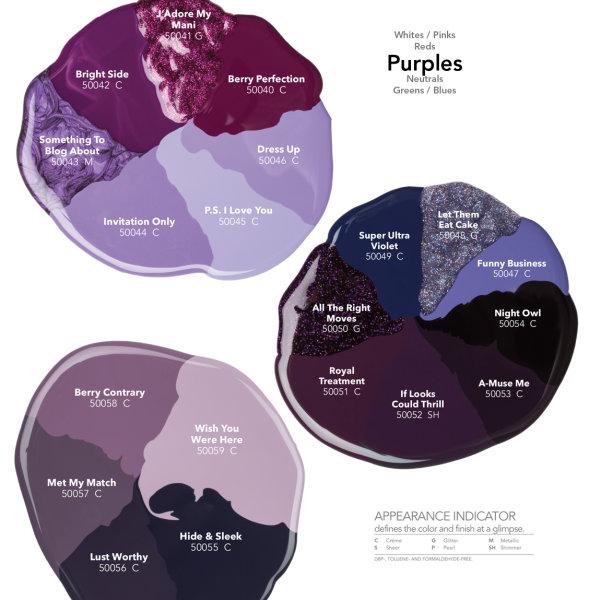 Morgan Taylor COLOUR CHART Purples €12