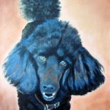 Black Poodle SOLD