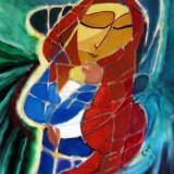 Red-haired Madonna and Child