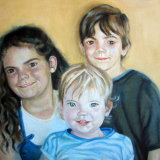Sisters and  Brother oil on canvas SOLD
