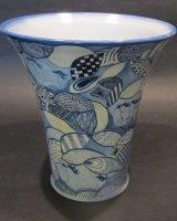 "Cloud Horses Vase 8"" High"