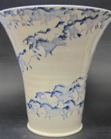 "WildHorses Vase - 10"" high"