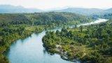 The landscape of the Neretva river