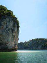 Secluded island beach, Ha Long
