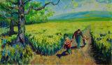 Running through the rape seed fields