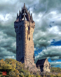 Wallace Monument on Abbey craig