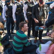 Sit-in on the Strand, London, 2015