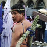 Penitent, Easter procession, Quito, Ecuador