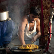 Street cooking, Pushkar, India