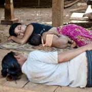 Siesta, Hill tribe village, Laos