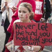 Woman's International Day march, London, 2014