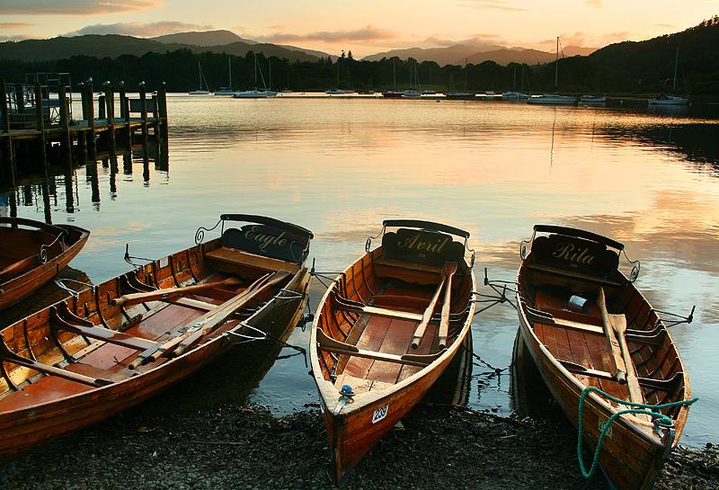 Waterhead Boats Sunset