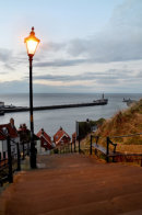 Whitby Steps Blue Hour