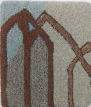 """""""Through a Window"""" chair seat pad by Christine Crofts"""