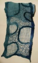 embroidered nuno felt scarf