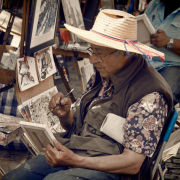 Painter with Straw Hat