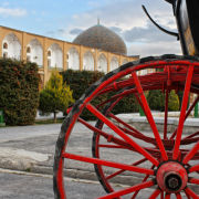 Red Wheel and Mosque