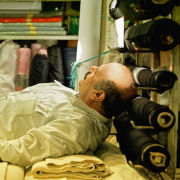 Sleeping Fabric Seller