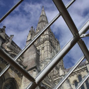 Salisbury Cathedral Behind Bars