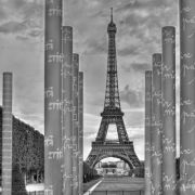 Peace Memorial and Eiffel Tower