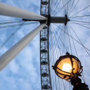 London Eye and Street Light