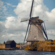 Kinderdijk Windmill in Autumn