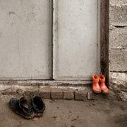 Tiny Orange Boots