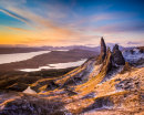 first light on The Old Man of Storr
