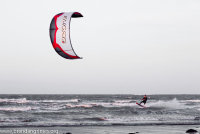 Kite surfing on the South Strand, Skerries