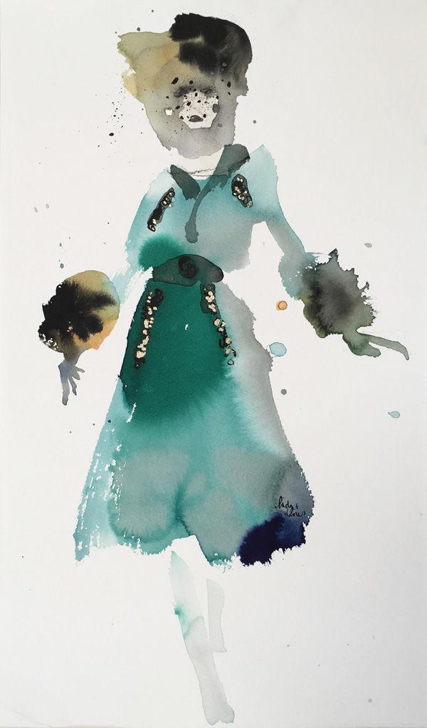 Green Velvet Dress - Dior
