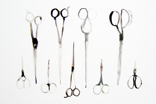Nine Pairs of Scissors