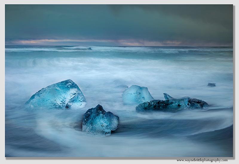 Ice Beach Sea Wash