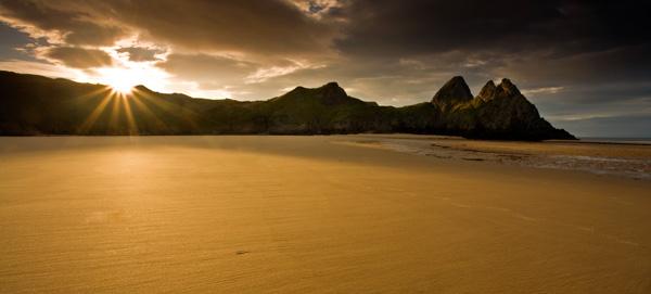 Three Cliffs Bay Sunrise - SWS018