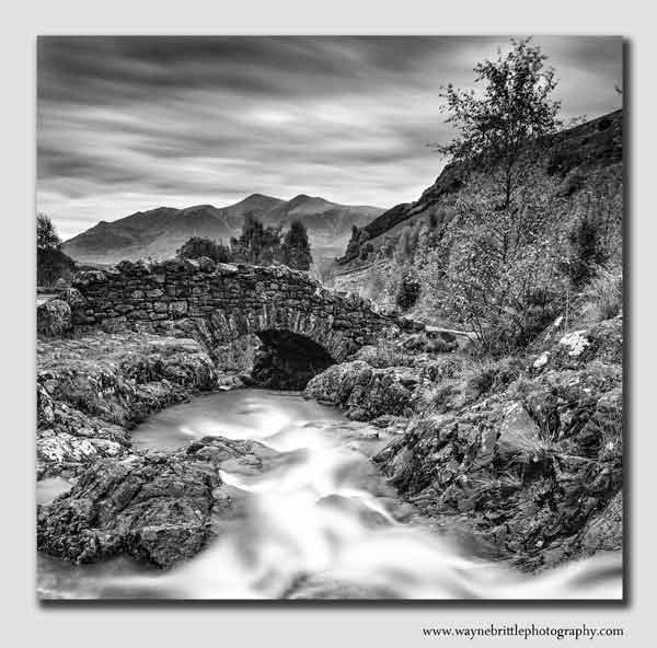 Ashness Bridge - B&W - Cumbria
