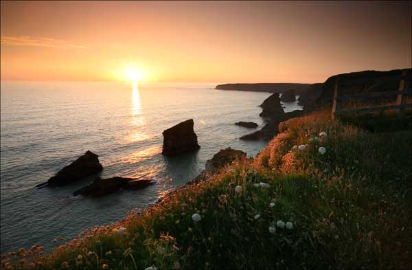 Bedruthan Steps at Sunset - CS024