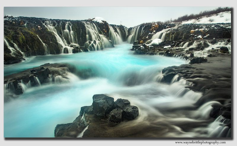 Bruafoss Waterfall View