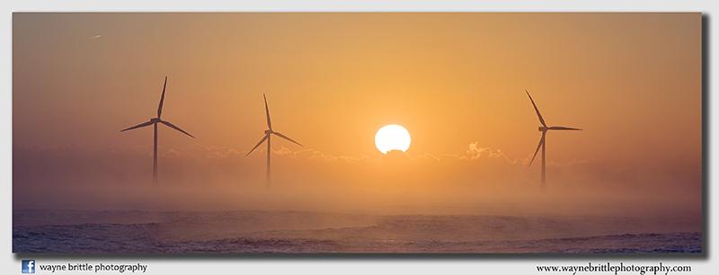Caister Beach Wind-Farm Sunrise