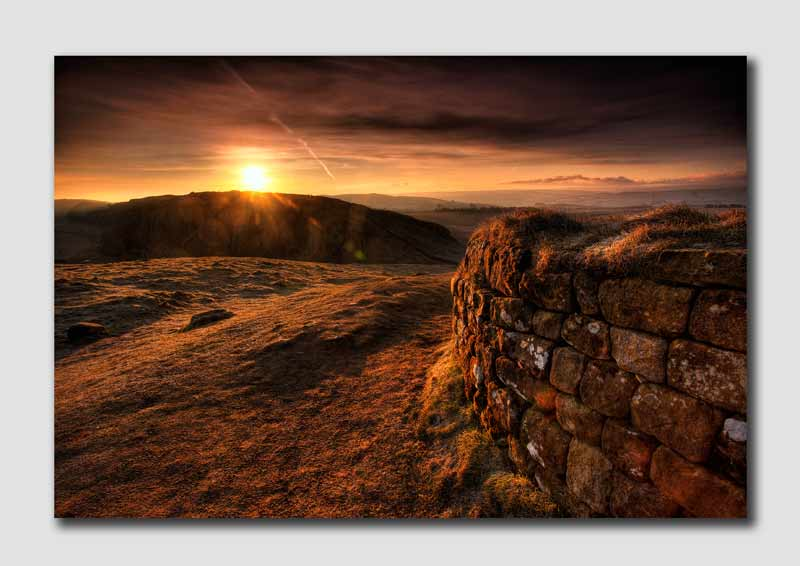 Dawn over Hadrians Wall - HDR 2- N4842