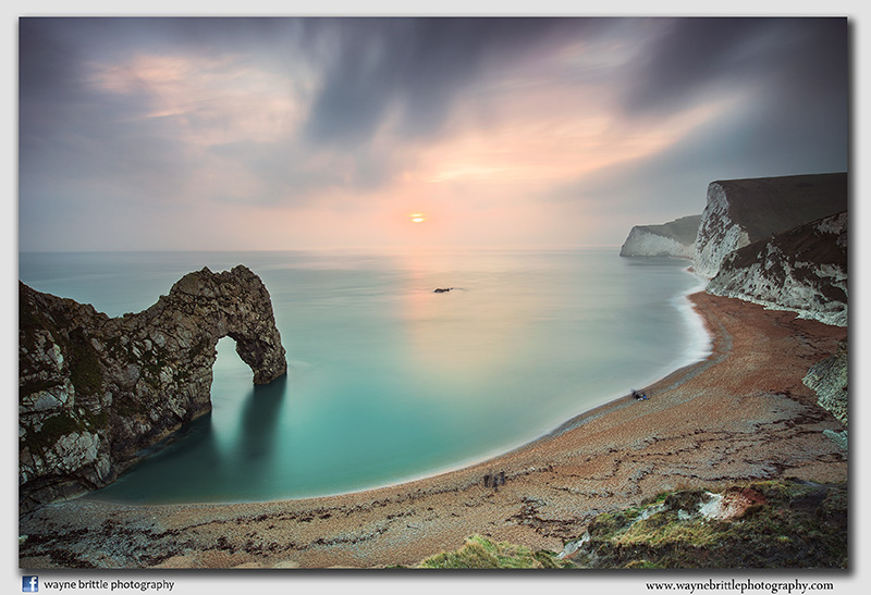 Durdle Door at sundown