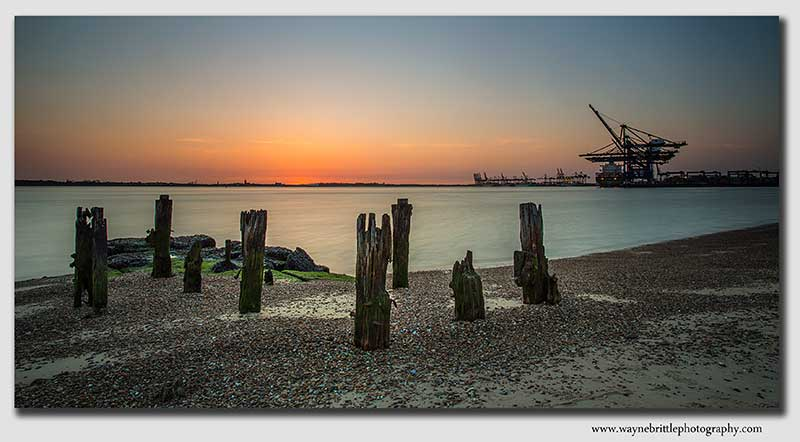 Felixstowe Docks at sunset - W5D39191