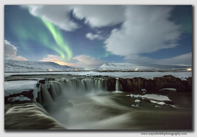 Godafoss and the Aurora