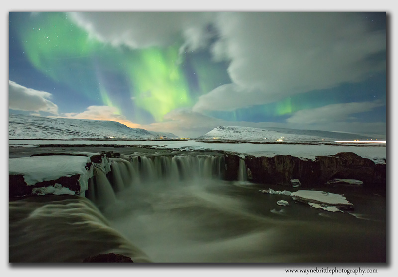 Godafoss and the Aurora - 2