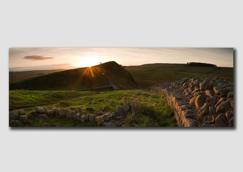 Hadrians Wall Sunset - Panorama - NP140
