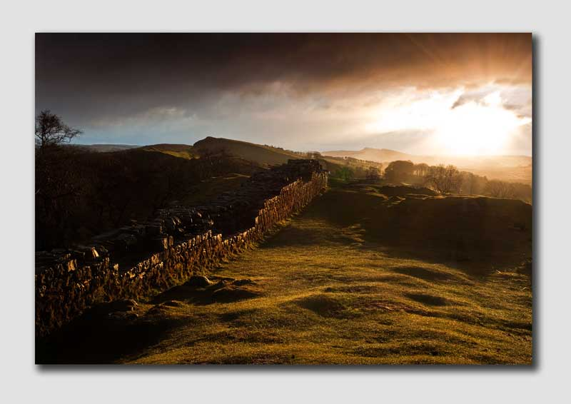 Dramatic Light on Hadrians Wall-NS019