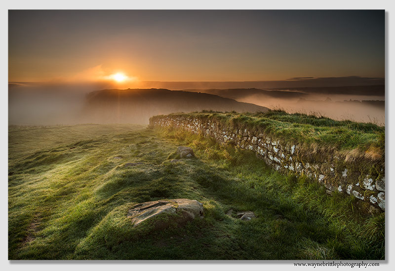 Hadrians Wall in the light of dawn