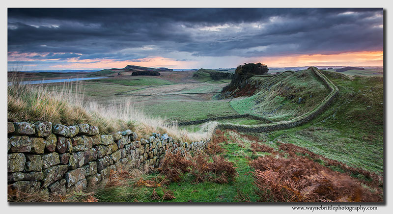 Storm at Dawn - Hadrians Wall - Panorama