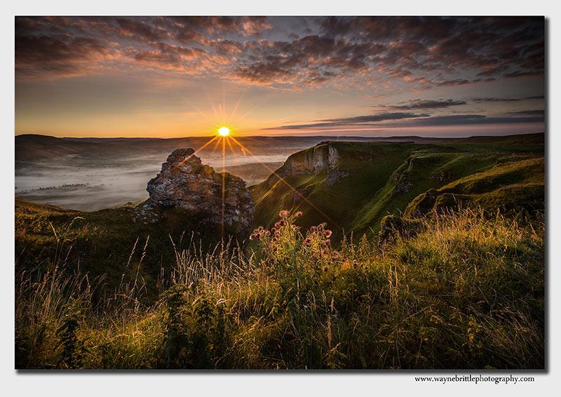 Winnat's Pass around sunrise